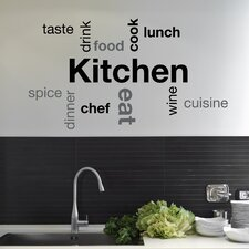 Home Decor Line Kitchen Quote Wall Decal