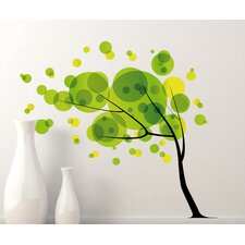 Home Decor Line Tree in The Wind Wall Decal