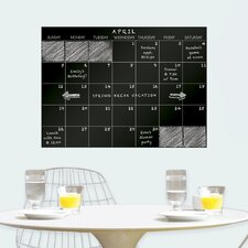 WallPops Monthly Dry Erase Calendar Chalkboard Wall Decal