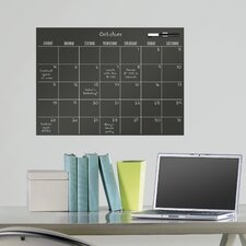 WallPops Monthly Calendar Chalkboard Wall Decal