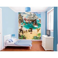 Walltastic Wall Art Pirate and Treasure Adventure Wall Mural