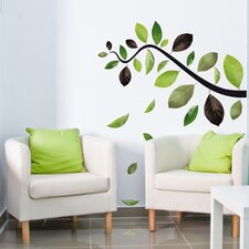 Home Decor Line Falling Leaves Wall Decal