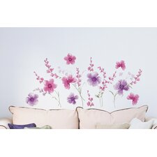 Home Decor Line Spring Flowers Wall Decal