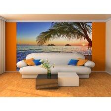 Ideal Decor Pacific Sunrise Wall Mural