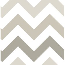 "Zig Zag Peel and Stick 18' x 20.5"" Geometric Roll Wallpaper"