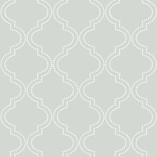 "Quatrefoil Peel and Stick 18' x 20.5"" Geometric Roll Wallpaper"