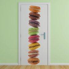 Macarons Slim Door Decal