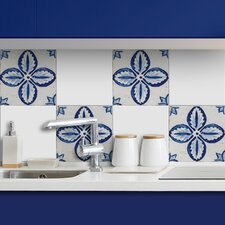 Floral Peel and Stick Tiles Wall Decal