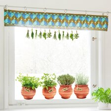 Pots 6 Piece Window Decal Set