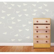 Paper Airplane MiniPops 228 Piece Wall Decal Set