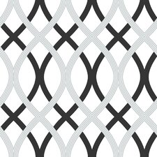 "18' x 20.5"" Lattice Peel and Stick Wallpaper"
