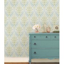 "18' x 20.5"" Nouveau Damask Peel and Stick Wallpaper"