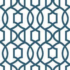 Navy Grand Trellis Peel And Stick Wallpaper