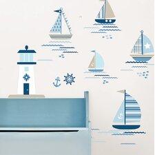 Ships Ahoy 91 Piece Wall Decal Set