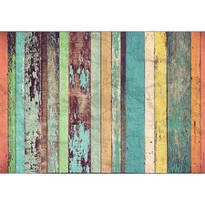 Colored Wood Wall Mural