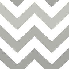"Zig Zag Peel and Stick 18' x 20.5"" Chevron Wallpaper"