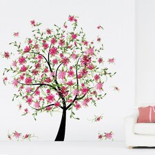 Home Decor Line Flowering Tree Wall Decal