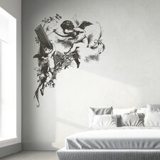 Home Decor Line Drawn Little Angels Wall Decal