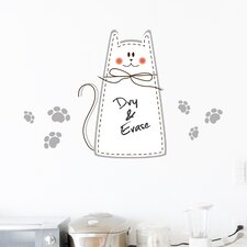 Home Decor Line Cat Whiteboard Wall Decal