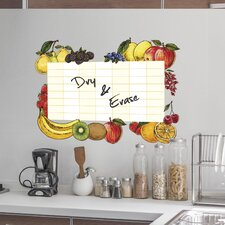 Home Decor Line Fruits Whiteboard Wall Decal