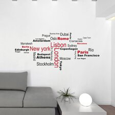 Home Decor Line Cities Wall Decal