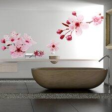 Home Decor Line Peach Flowers Wall Decal