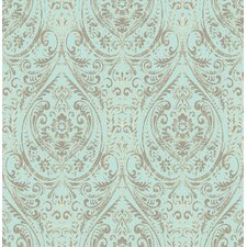 "18' x 20.5"" Nomad Damask Peel and Stick Wallpaper"