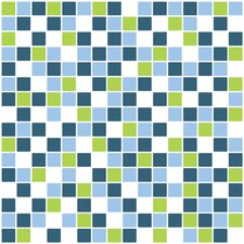 "Home Decor Line 7.9"" x 7.9"" Peel & Stick Mosaic Tile in Blue and Green (Set of 3)"