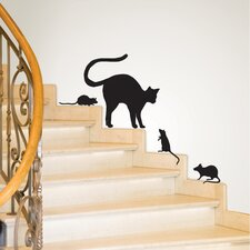 Black Cat Small Wall Decal