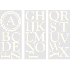 WallPops Baby Sheets Dorset Ivory Monogram and Alphabet Wall Decal