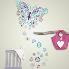 Wall Art Kit Social Butterfly Wall Decal