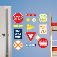 Wall Art Kit Road Signs Wall Decal