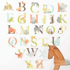 Wall Art Kit Alphabet Zoo Wall Decal