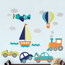 Wall Art Kit on The Go 19 Piece Wall Decal Set