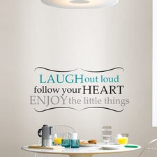 Wall Art Kit Laugh Out Loud Quote Wall Decal