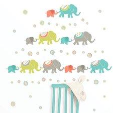 Wall Art Kit Tag Along Elephants Wall Decal