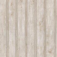 "Northwoods 33' x 20.5"" Wood 3D Embossed Wallpaper"