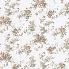 "Satin Rose 33' x 20.5"" Floral and Botanical 3D Embossed Wallpaper"