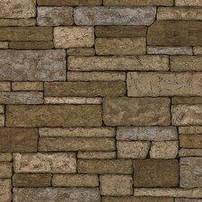 """Trompe L'oeil 33' x 20.5"""" Stone 3D Embossed Wallpaper"""