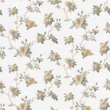 "Magnolia Trail Satin Rose 33' x 20.5"" Floral and Botanical 3D Embossed Wallpaper"
