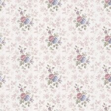 "Monotone Satin Rose 33' x 20.5"" Floral and Botanical 3D Embossed Wallpaper"