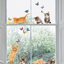 Euro Cats Window Sticker