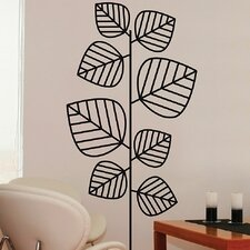 Euro Leaves Flock Wall Decal