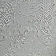 "Richard Supaglypta Anaglypta Paintable 33' x 20.5"" Abstract 3D Embossed Wallpaper"