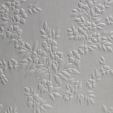 "Anaglypta Paintable Portland Original 33' x 20.5"" Floral and Botanical 3D Embossed Wallpaper"