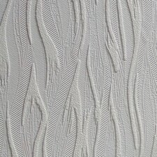 """Anaglypta Paintable Caiger 33' x 20.5"""" Abstract 3D Embossed Wallpaper"""