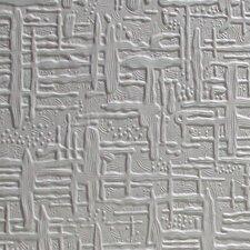 "Anaglypta Paintable Edward Supaglypta 33' x 20.5"" Abstract 3D Embossed Wallpaper"