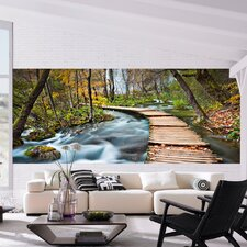 Ideal Decor Path into the Forest Wall Mural