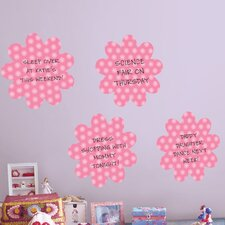 WallPops Dry-Erase Daisy Whiteboard Wall Decal (Set of 4)
