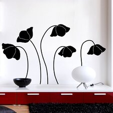 Euro Flower Silhouette Wall Decal
